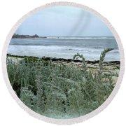 Celadon Seascape Round Beach Towel