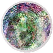 Cell Dreaming 2 Round Beach Towel