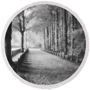 Cemetery At Ypres  Round Beach Towel by Simon Marsden