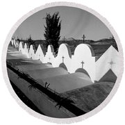 Cemetery Spain Three Round Beach Towel