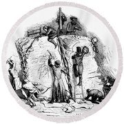 Censorship: Allegory Round Beach Towel