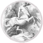 Centaur Round Beach Towel