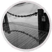Chained Together Round Beach Towel