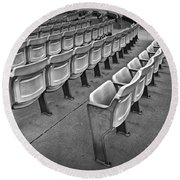 Chair Seating In An Arena With Oak Leaf Round Beach Towel