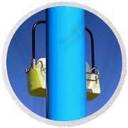 Chairlift Cart Round Beach Towel