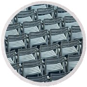Chairs In Chicago No.4632 Round Beach Towel