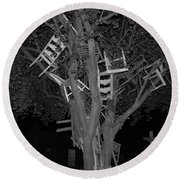 Chairy Tree Round Beach Towel