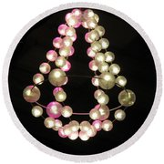 Chandelier From Pearls Round Beach Towel