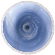 Change In The Weather Round Beach Towel