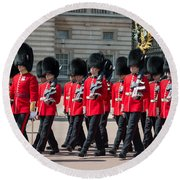 Changing Of The Guard Round Beach Towel