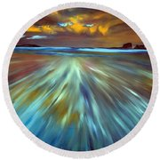 Changing Tides Round Beach Towel