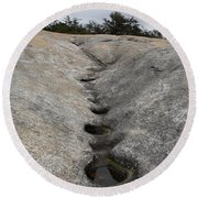 Channel Eroded By Water Round Beach Towel