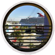 Channelside Tampa Art Deco Round Beach Towel