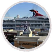 Channelside Tampa Round Beach Towel