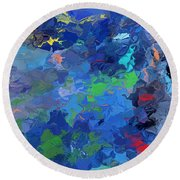 Chaotic Nature Round Beach Towel