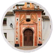 Chapel Of Conception In Cordoba Round Beach Towel