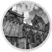 Chapel Of St. John's College - Cambridge Round Beach Towel