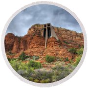 Chapel Of The Holy Cross  Round Beach Towel