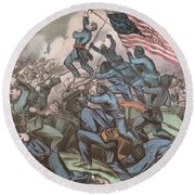 Charge Of The 54th Massachusetts Round Beach Towel