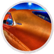 Charger Round Beach Towel