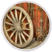 Chariot Wheel Round Beach Towel