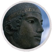 Charioteer Of Delphi Round Beach Towel by Photo Researchers