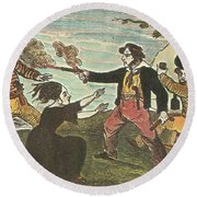 Charles Gibbs, American Pirate Round Beach Towel by Photo Researchers