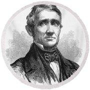 Charles Goodyear /n(1800-1860). American Inventor. Line Engraving, 19th Century Round Beach Towel