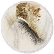 Charles Robert Darwin, English Round Beach Towel