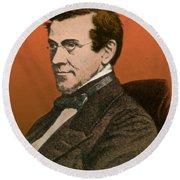 Charles Wheatstone, English Inventor Round Beach Towel