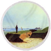 Charleston Battery, 1864 Round Beach Towel