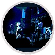 Winterland Blues 1975 Round Beach Towel