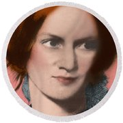 Charlotte Bronte, English Author Round Beach Towel by Science Source