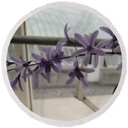 Charming Orchid  Round Beach Towel