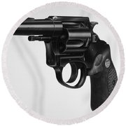 Charter Arms Revolver Round Beach Towel