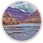 Charting The  Mighty Colorado River Round Beach Towel