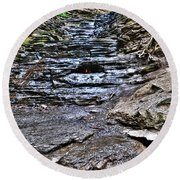 Chasing The Eternal Flame At Chestnut Ridge Park Round Beach Towel