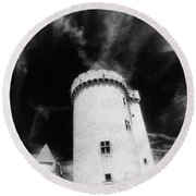 Chateau De Blandy Les Tours Round Beach Towel