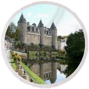 Chateau De Josselin Round Beach Towel