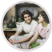 Chatterboxes Round Beach Towel by Thomas Benjamin Kennington