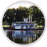 Chautauqua Belle On Lake Chautauqua Round Beach Towel
