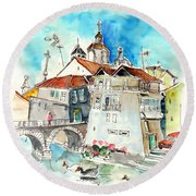 Chaves In Portugal 05 Round Beach Towel