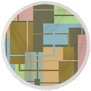 Check Round Beach Towel by Ely Arsha