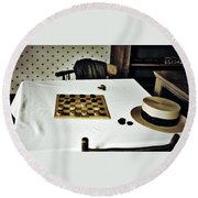 Check Mate Round Beach Towel