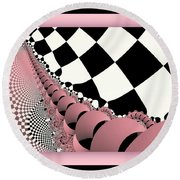 Checkers The Mouse Mechanical Tail Round Beach Towel