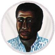 Cheick Oumar Sissoko Round Beach Towel