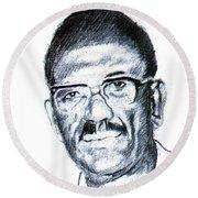 Cheikh Anta Diop Round Beach Towel
