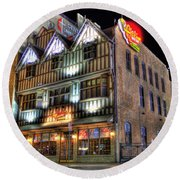 Cheli's Chili Bar Detroit Round Beach Towel by Nicholas  Grunas