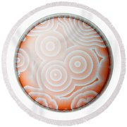 Chemical Waves In Bz Reagent 9 Of 9 Round Beach Towel