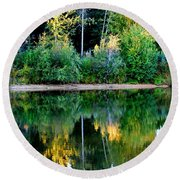 Chena River View Round Beach Towel